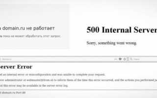 Внутренняя ошибка сервера 500 на сайте Госуслуг: что делать?
