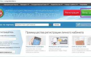 Госуслуги РТ Татарстан — личный кабинет