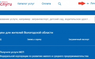 Госуслуги РФ — Вологодская область вход в личный кабинет